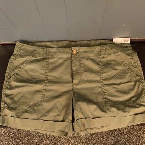 Olive Shorts - Old Navy